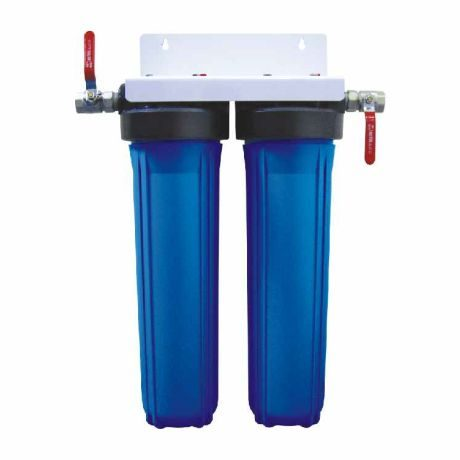 Two stage whole house water filter system for water filtration